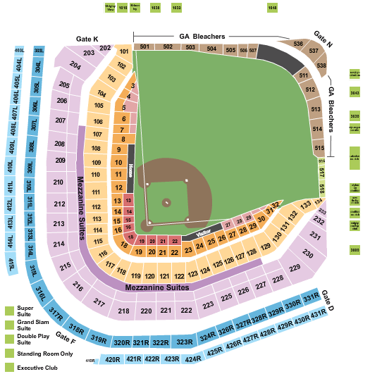 Wrigley Field Chicago Cubs Seating Chart